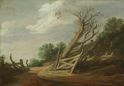 Landscape With Open Gate by Pieter Molijn