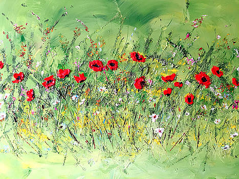 Landscape with Poppies by Dorothy Maier