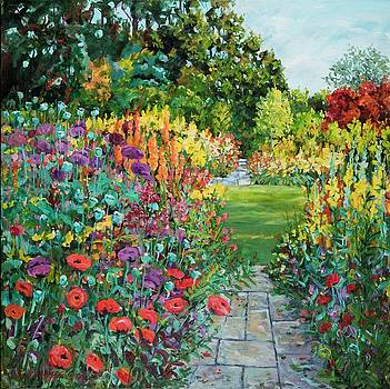 Landscape with Poppies by Ingrid Dohm