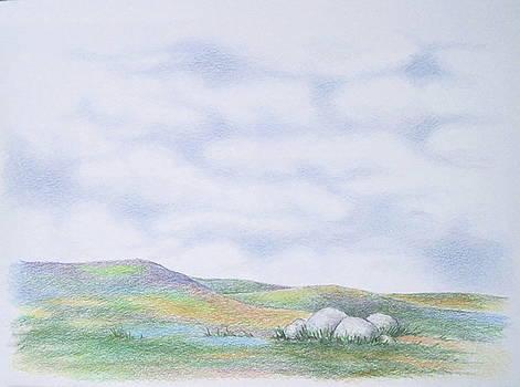Landscape With Rocks by Renee Goularte
