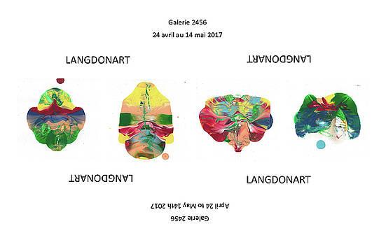 LangdonArt 4 spaceships by Artiste LangdonArt