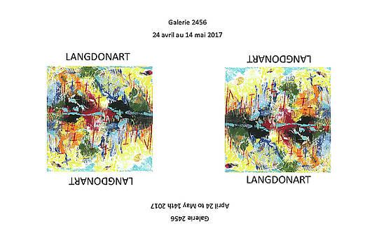 LangdonArt Affiche Expo Galerie 2456 du 24 avril au 14 mai 2017 Montreal by Artiste LangdonArt