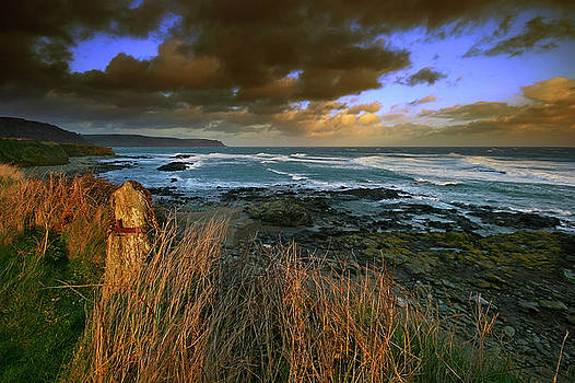 Langerstone Point looking across Lannacombe bay Devon by Mark Stokes