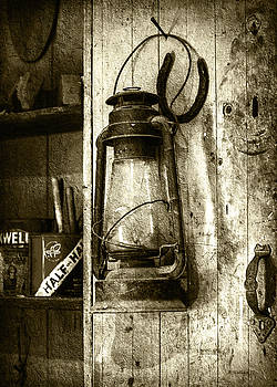 Lantern and Horseshoe - Sepia by Brian Wallace