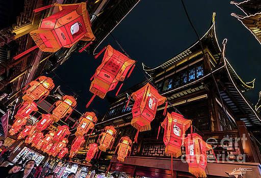 Lantern Festival at Yu Gardens #1 by Jeffrey Stone