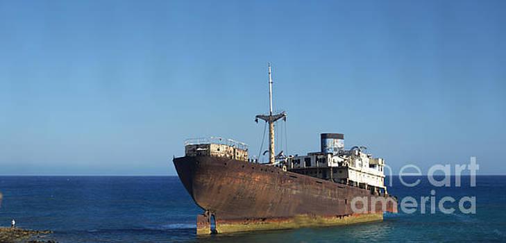Lanzarote ship wreck by Joe Cashin