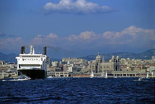 Sami Sarkis - Large ferry boat entering the Marseille port