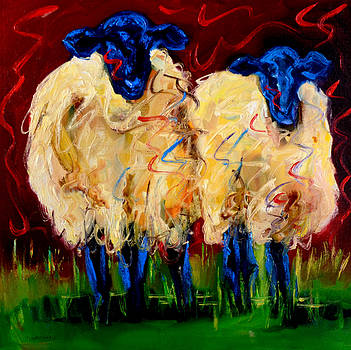 Large Party Sheep by Diane Whitehead