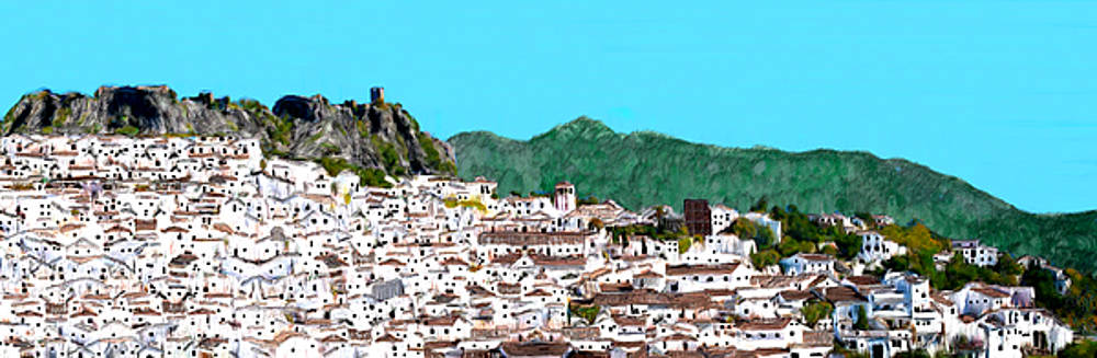 Large Village in Andalucia by Bruce Nutting