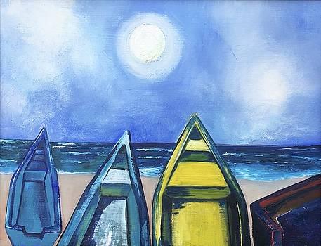 Las canoas by Adriana Sharpe