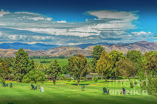 Las Posas Driving Range Topatopa Mountains by David Zanzinger