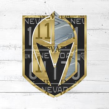 Design Turnpike - Las Vegas Golden Knights Hockey License Plate Art