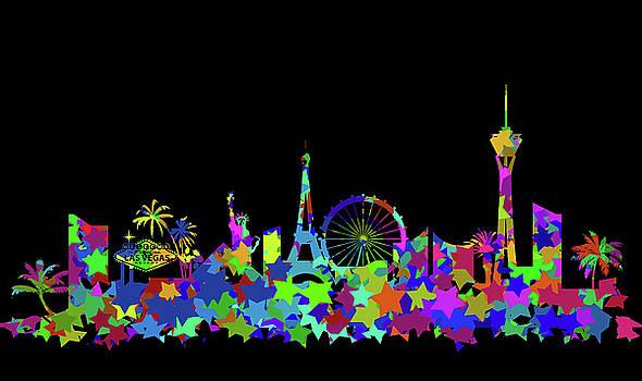 Ricky Barnard - Las Vegas Skyline Silhouette II