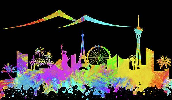 Ricky Barnard - Las Vegas Skyline Silhouette VIII