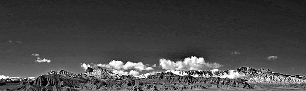 Las Vegas Spring Mt Range Black White by Carl Deaville