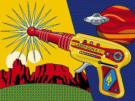 Laser Gun by Ron Magnes