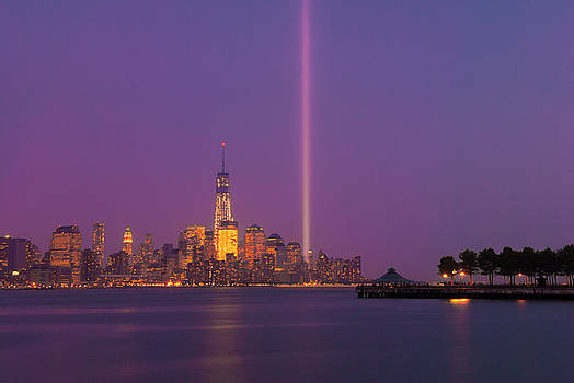 Ranjay Mitra - Laser Twin Towers in New York City