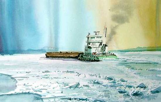 Last Barge Before Winter by William Hay