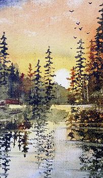 Last Flight Over Lac La Croix by Sarah Guy-Levar