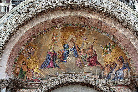 Last Judgement mosaic on St Marks Cathedral Venice by Louise Heusinkveld