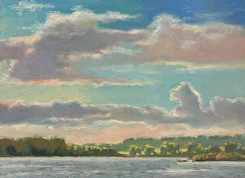 Last Light Millpond- Plein Air by Larry Seiler