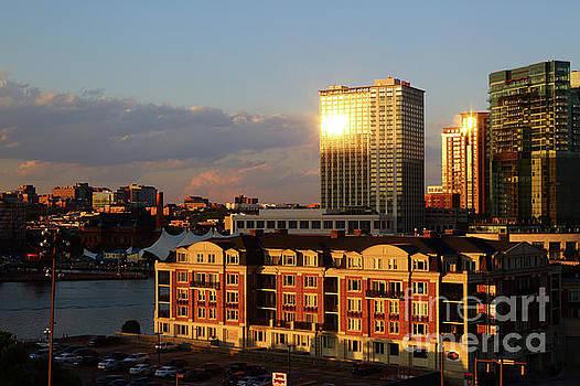 Last Light on Baltimore Harbor East District by James Brunker