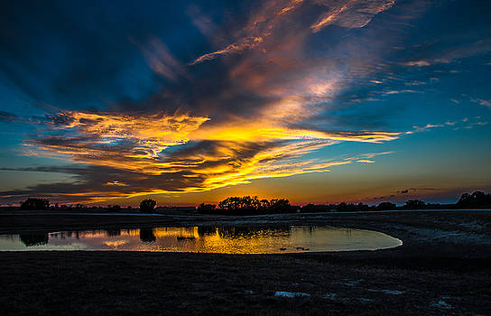 Last Light On The Pond by Bob Marquis