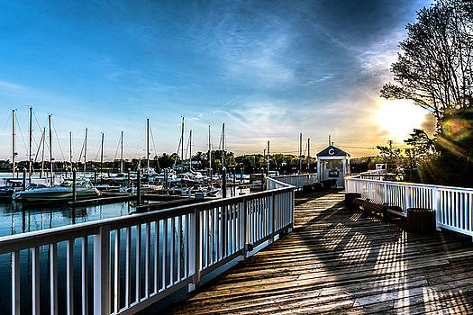 Last Light on Wentworth Marina by Devin LaBrie