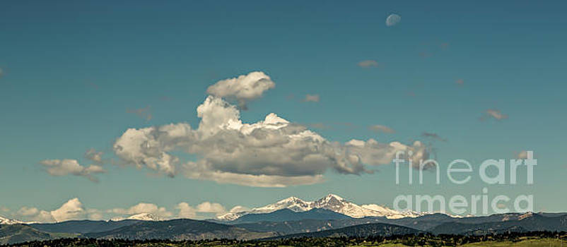 Jon Burch Photography - Last Quarter Moon Over Longs Peak