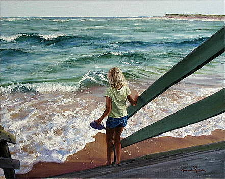 Late Afternoon Beach Walk by Amanda Russian