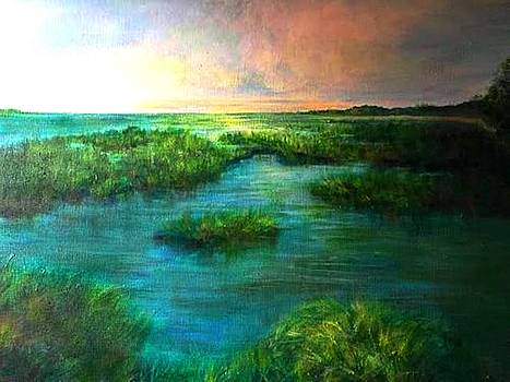 Late Afternoon Marsh by Susan Abell