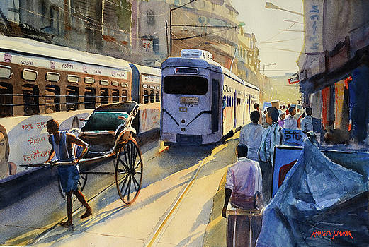 Late Afternoon Rush Hour by Ramesh Jhawar