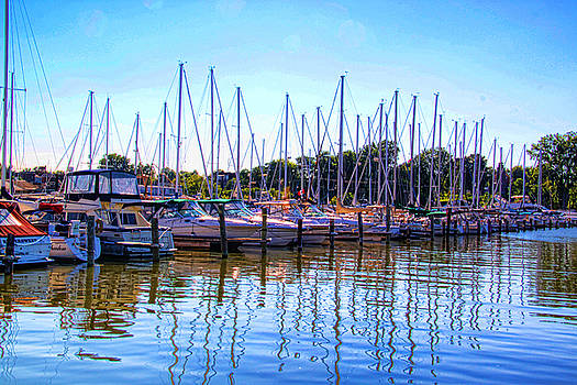 Mid August day at the marina. by Gerald Salamone
