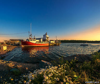Late in the Day at Fisherman's Cove  by Ken Morris