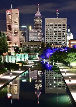 Late Night Reflection in Indy by Frozen in Time Fine Art Photography
