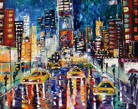 Late Night Times Square NY by Karen Tarlton