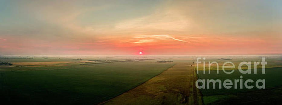 Late Summer Farmland Morning int the Midwest by Patrick Ziegler