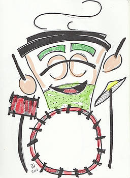 Latte Drummer by Loretta Nash