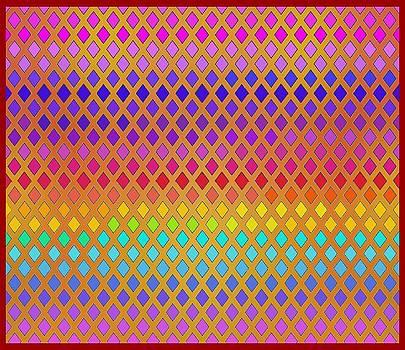 Latticed Rainbow by Vagabond Folk Art - Virginia Vivier