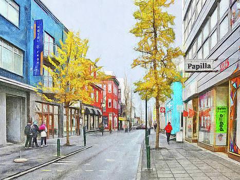Laugavegur Street in Downtown Reykjavik by Digital Photographic Arts