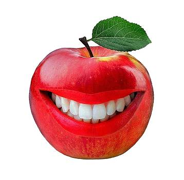 Laughing apple by Manfred Lutzius