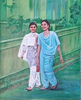 Usha Shantharam - Laughing girls