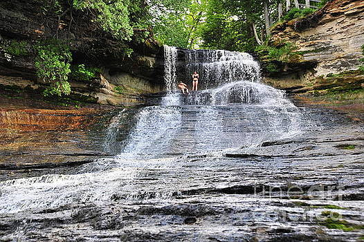 Laughing Whitefish Waterfall in Michigan by Terri Gostola