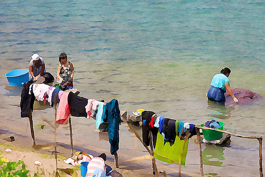 Tatiana Travelways - Laundry day in Guatemala 2 - Digital Paint