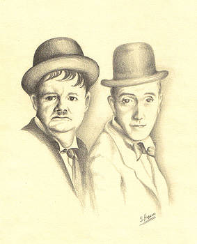 Laurel and Hardy by Stephanie  H Johnson