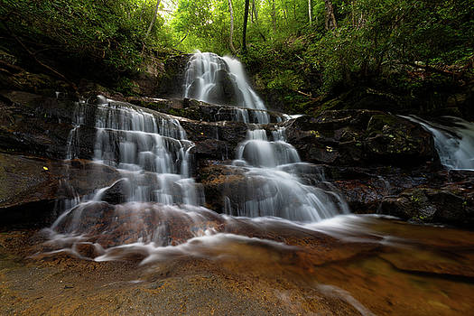 Laurel Falls Great Smoky Mountains Tennessee by Mike Koenig