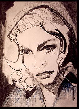 Lauren Bacall in Blue by Jared  Carpenter