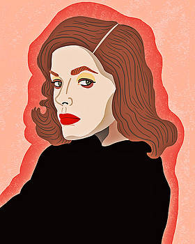 Lauren Bacall by Nicole Wilson