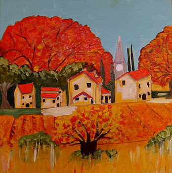 L'Automne en Beaucaire Provence by Rusty Woodward Gladdish