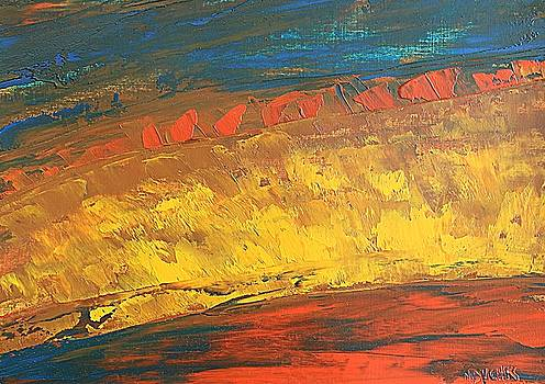 Lava flow by Norma Duch